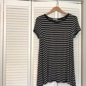 Acemi black and white striped dress
